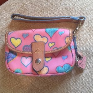 Dooney and Bourke Pink Leather Wristlet